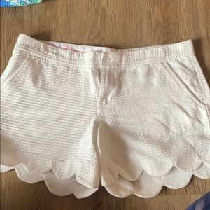 Lily Pulitzer white buttercup shorts